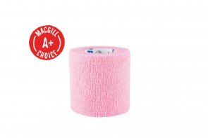 "Economy 2"" x 5 Yards Self-Adherent Wrap, Pink, Latex-Free"