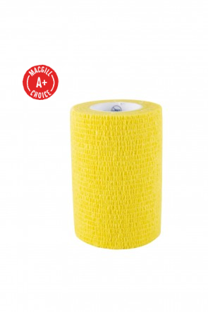 "Economy 3"" x 5 Yards Self-Adherent Wrap, Yellow, Latex-Free"