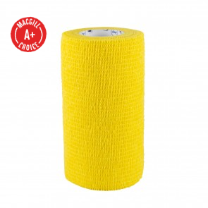 "Economy 4"" x 5 Yards Self-Adherent Wrap, Yellow, Latex-Free"