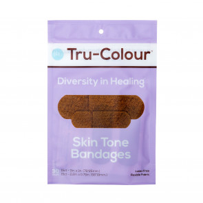 Tru-Colour® Flexible Fabric Bandages, Purple Pack, 30/Bag