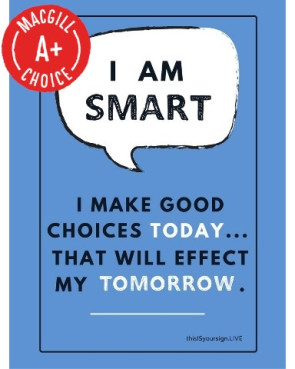 "I Am Smart Poster, 11"" x 17"", Laminated"
