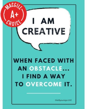 "I Am Creative Poster, 11"" x 17"", Laminated"