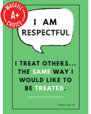 "I Am Respectful Poster, 11"" x 17"", Laminated"