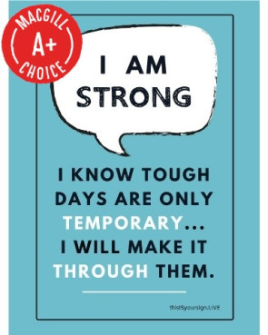 "I Am Strong Poster, 11"" x 17"", Laminated"