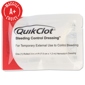QuikClot Bleeding Control Dressing, 3 in. x 4 ft. Roll