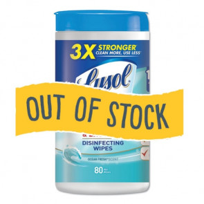 (Out of Stock) Lysol Wipes, 80 per Can, Ocean Fresh Scent