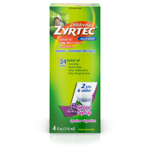 Children's Zyrtec Allergy Syrup, Grape, 4oz