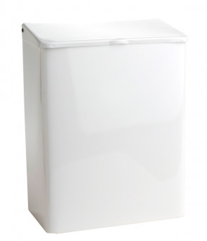 Sanisac Feminine Product Disposal Unit, White Enamel