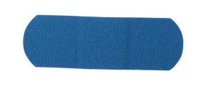 "1"" x 3"" Blue Non-Metal Flexible Fabric Bandages, 1500/Case"