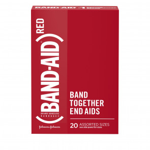 Band-Aid® RED Adhesive Bandages, 20/Box