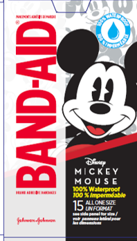 Mickey Mouse Waterproof Band-Aid® Bandages, 20/Box