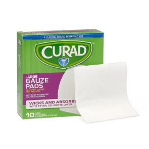 "Curad® Sterile Pro-Gauze Pads, 4"" x 4"", 10/Box"