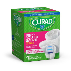"Curad® Stretch Rolled Gauze, 2"" x 4.1 yds"