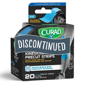 (Discontinued) Curad® Kinesiology Tape, 20 Strips, Blue