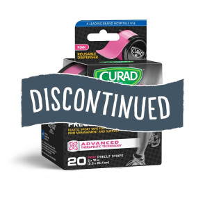 (Discontinued) Curad® Kinesiology Tape, 20 Strips, Pink