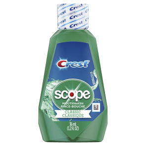 Crest® Scope Classic Mouthwash, 1.2 oz. Travel Size, Mint
