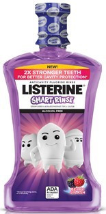 Listerine® Smart Rinse Mouthwash, Berry Splash, 500 ml