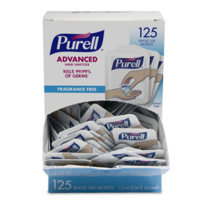 Purell® Singles™ Single-Use Hand Sanitizer Packets, 125/box