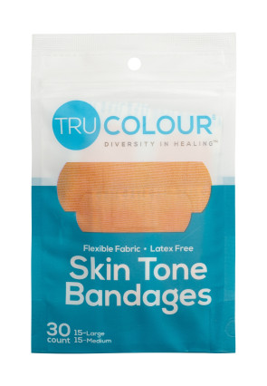 Tru-Colour® Flexible Fabric Bandages, Teal Pack, 30/Bag