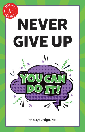 "SuperYOU Series, Never Give Up, 11"" x 17"", Laminated Poster"
