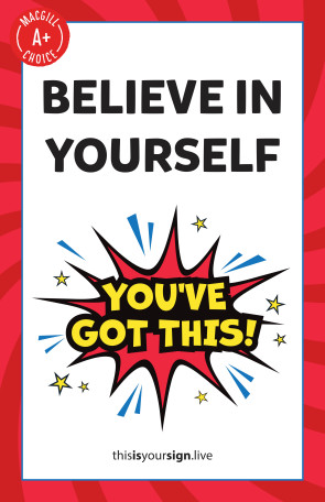 "SuperYOU Series, Believe In Yourself, 11"" x 17"" Poster"