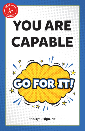 "SuperYOU Series, You Are Capable, 11"" x 17"" Poster"