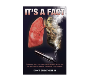 "Don't Breathe It In Vaping Poster, 11"" x 17"""