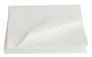 "Stretcher Sheets, White, Poly/Tissue 40"" x 90"", 50/Case"