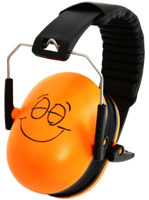 Noise Reduction Headphones, Emoji, Orange