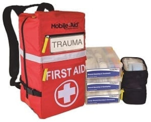 MobileAid® Hi-Vis 50-Person First Aid Backpack Kit
