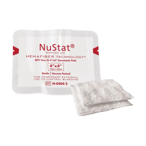"NuStat® Hemostatic Dressing, 4"" x 4"", Pack of 2"