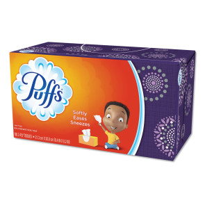 Puffs® Everyday Facial Tissues, 180 per box, 24/case
