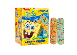 "Sponge Bob Bandages, 3/4"" x 3"", 100/box"