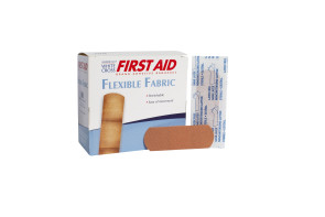 "American® White Cross 1"" x 3"" Fabric Bandages 100/bx 12/cs"
