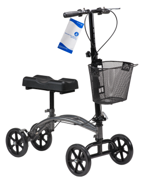 Dynarex® Steerable Knee Walker with Basket