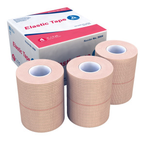 "Economy Elastic Tape, 3"" x 5 yds, 4/box"
