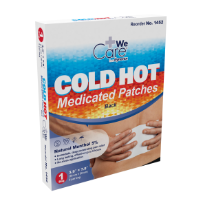 Economy Cold Hot Medicated Patches, Back, 1/box