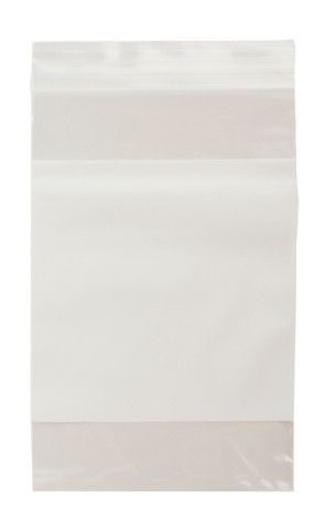 "Economy Bags, 6"" x 9"", Zipper w/Writing Block (100/Pkg)"