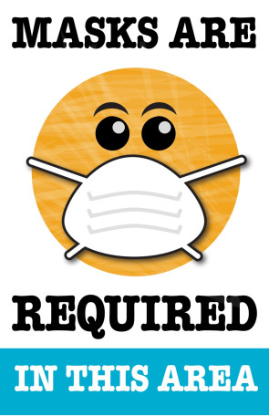 """Masks Are Required in this Area, 11"""" x 17"""" Poster, 5/pack"""