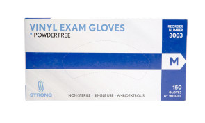 Strong MFG Medium Vinyl Exam Gloves, 150 per box