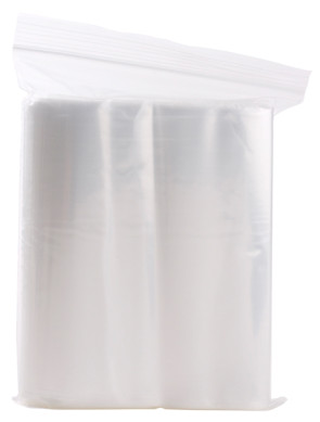 "Economy Storage Bags, 8"" x 8"", Zipper Seal, 2 ml (100/Pkg)"