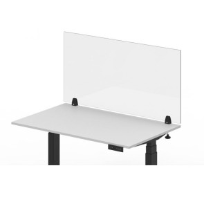 "Luxor RECLAIM® Acrylic Clamp-On Desk Divider, 48"" x 24"""