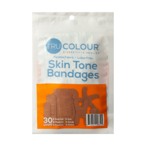 Tru-Colour® Assorted Bandages, Brown- Dark Brown, 30/pack