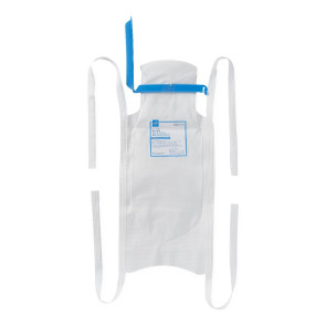 "Refillable Ice Bags with Clamp Closure, 6.5"" x 14"", 25/box"