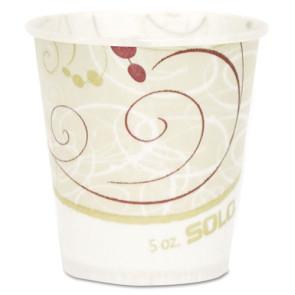 Solo® 5 Oz Heavy Duty Flat Bottom Paper Cups, 100/Tube