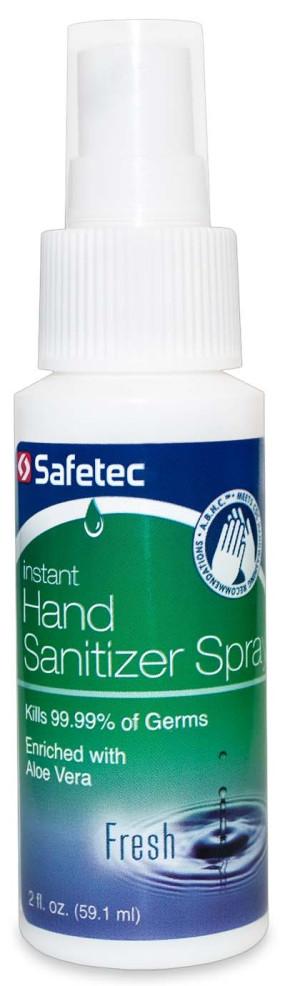 Safetec® Instant Hand Sanitizer Spray, 2oz bottle