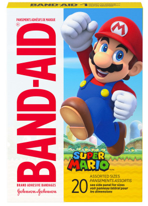Band-Aid® Super Mario Assorted Bandages, 20/Box