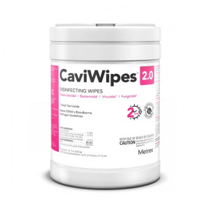 """CaviWipes™ 2.0 Disinfecting Wipes,  9"""" x 12"""", 65/can"""