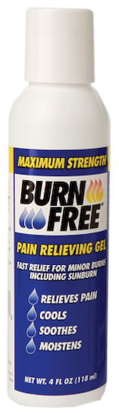4 Oz Burn Free® Topical Gel, Squeeze Bottle