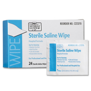 Sterile Saline Wipes, 24/Box